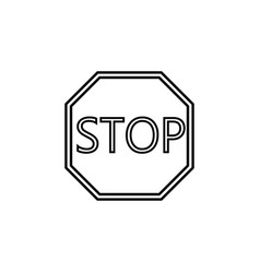 stop line icon traffic regulatory sign vector image vector image