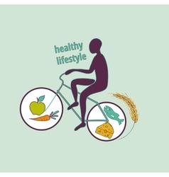 Healthy lifestyle symbol vector image