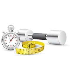 stopwatch and measuring tape vector image vector image
