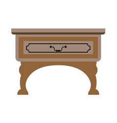 table with drawer vector image