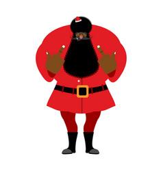 big black bad santa claus shows to vector image