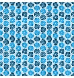 Blue flowers dark background seamless pattern vector image vector image