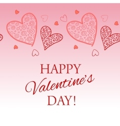 Happy Valentine s Day lettering Greeting Card vector image vector image