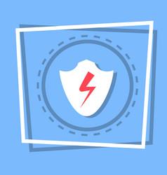 Shield icon data protection web button vector