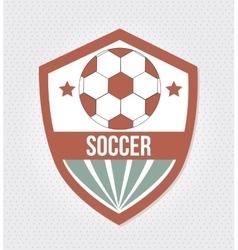 soccer league design vector image vector image