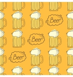 beer pattern Cartoon style vector image
