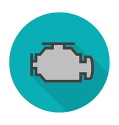 Check engine icon flat vector image vector image