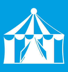 Circus tent icon white vector