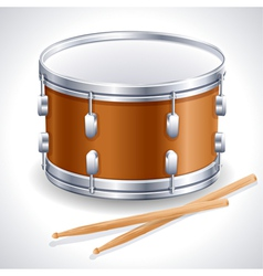 drum and drumsticks vector image vector image