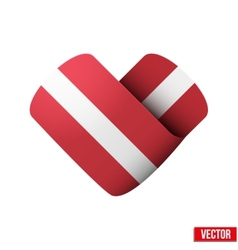 Flag icon in the form of heart I love Latvia vector image vector image