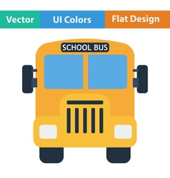 Flat design icon of School bus vector image