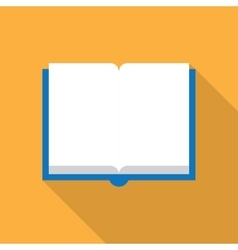 Open book on white vector image vector image