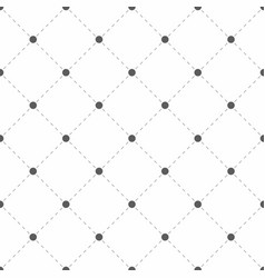 polka dotted texture with rhombus geometric vector image vector image