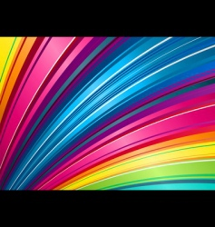 rainbow fan background vector image
