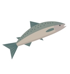 Salmon icon flat style Saltwater fish isolated on vector image vector image
