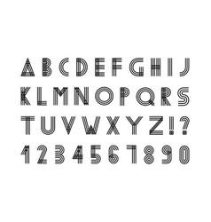 simple minimalistic font digital alphabet vector image