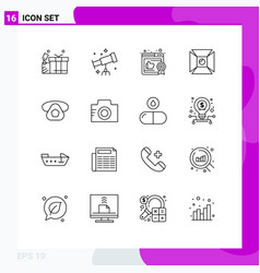 16 thematic outlines and editable symbols vector