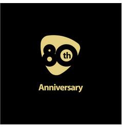 80 year anniversary celebration template design vector