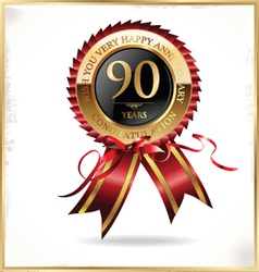 90 years anniversary label vector image
