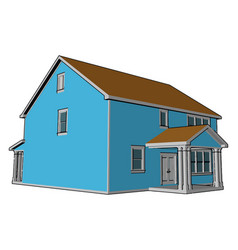 A farmhouse or color vector