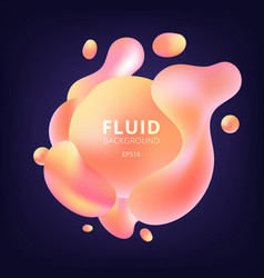 Abstract 3d fluid yellow and pink gradient color vector