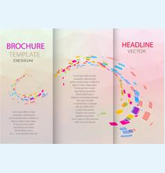 Abstract business tri fold leaflet flyer design vector
