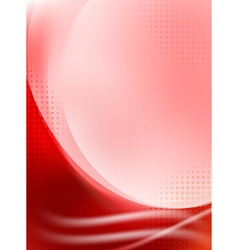 Abstract red flowing background vector