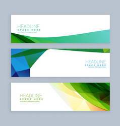 Abstract shapes colorful banners set vector