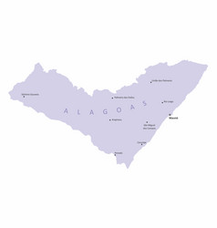alagoas state map vector image