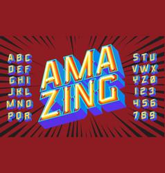 amazing lettering 3d vintage letters vector image