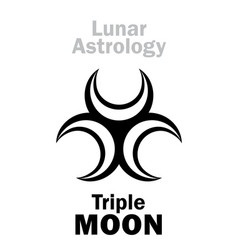 Astrology triple moon vector