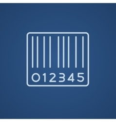 Barcode line icon vector image