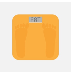 Bathroom floor electronic weight scale word fat vector
