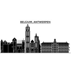 Belgium antwerpen architecture city vector