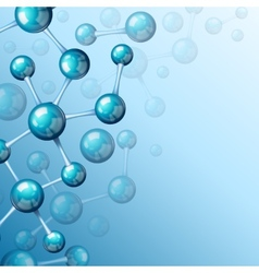 Blue molecule 3d background vector