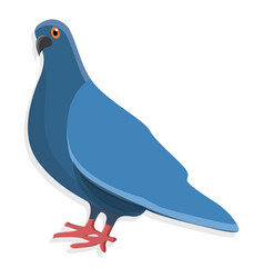 Blue pigeon icon cartoon style vector