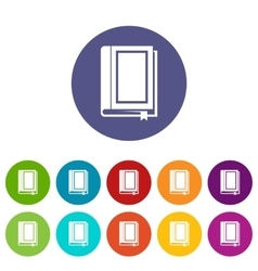 Book set icons vector image