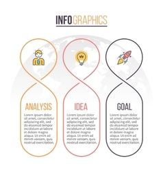 Business infographics Timeline with 3 parts vector image