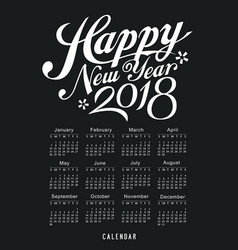 Calendar black and white design vector