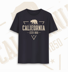 california state graphic t-shirt design vector image