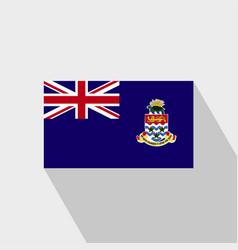 Cayman islands flag long shadow design vector