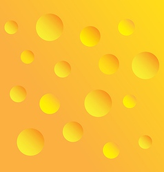 Cheese holes vector