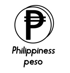 Coin with philippiness peso sign vector