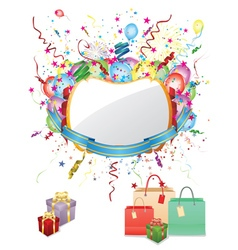 Colorful Shopping Background vector image