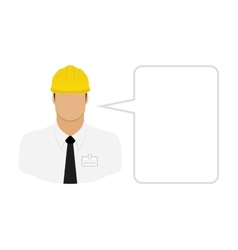 Construction worker foreman vector image