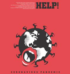 corona virus conceptual poster design vector image