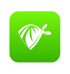 cowboy neckerchief icon digital green vector image