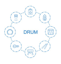 Drum icons vector