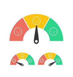 feedback concept design emotions scale isolated on vector image