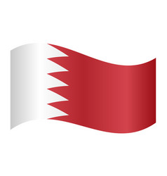 flag of bahrain waving on white background vector image
